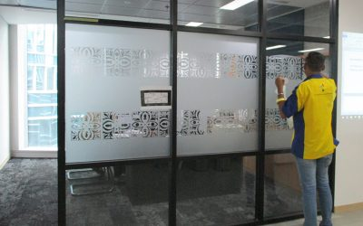 Office Branding – Window Sticker – Office Sandblast