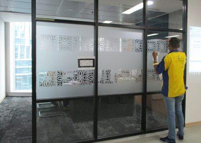Office Branding SandBlast Cutting 01