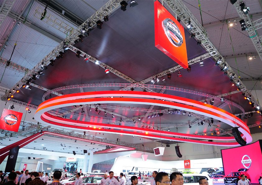 Stage Branding – Mesh Vinyl for Ceiling (Exhibition Stage)